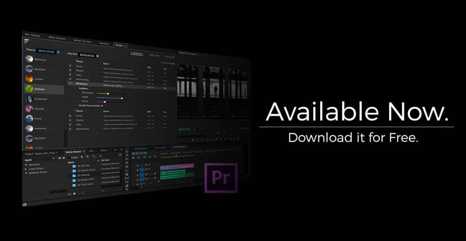 Filmstro : Génération de bande son dynamique directement dans Premiere Pro CC !